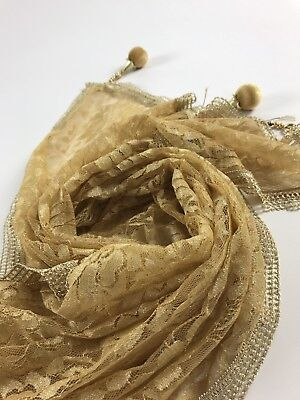 $8.99 Partywear  Gold Dupatta Indian  Wedding Fancy  Scarf  Match any Dress Suit