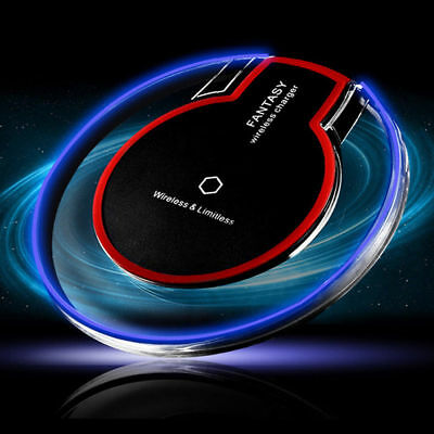Clear Qi Wireless Fast Charger Charging Pad For Samsung Galaxy S9 iPhone XS XR 8