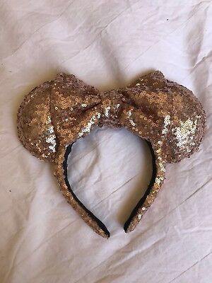 Rose Gold Sequin Minnie Mouse Ears (Disney Inspired)