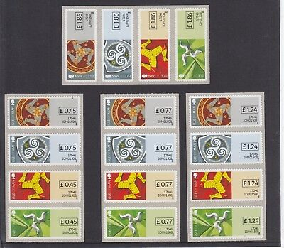 Isle Of Man - Triskelion Post & Go/ATM Collector Set - STAMPEX 2017