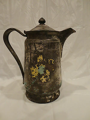RARE, MADE FOR SHERATON HOTEL. Reed & Barton Silver Soldered Teapot Pitcher