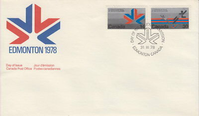 Canada #757-758 Commonwealth Games Combination First Day Cover