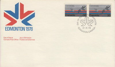 Canada #758 30¢ Commonwealth Games Pair First Day Cover
