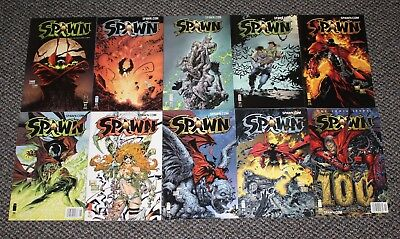 SPAWN Comic Book Issues 91 92 93 94 95 96 97 98 99 100 - IMAGE McFarlane LOT Set