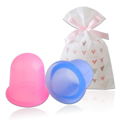 Medical Silicone Massage Cupping Therapy Set Cellulite Removal (Pack of 2 Cups)