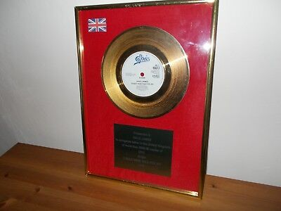 80s gold presentation disc COULD HAVE TOLD YOU SO by HALO JAMES