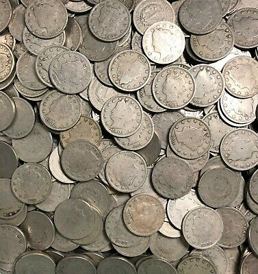 Full Roll Of Liberty Head V Nickels - 40 Coins - Estate Lot - Readable Dates