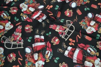 job lot 5 yards of black Christmas fabric 1 lot only