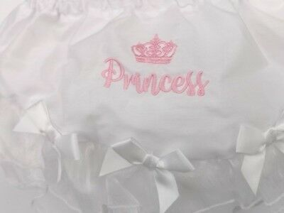 Princess Baby Girl Lace Frilly Pants Knickers Christening Occasion 0-6-12-18m