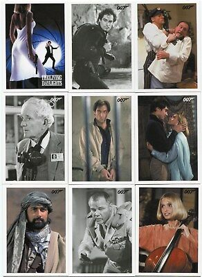 2016 James Bond Archives Spectre Edition 55 card The Living Daylights Set