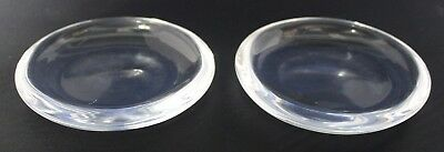 """Pair Steuben 4"""" Coasters Crystal Clear Signed Steuben"""