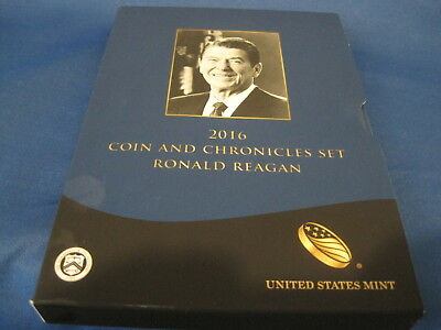 2016 US Mint Ronald Regan Coin and Chronicles Set