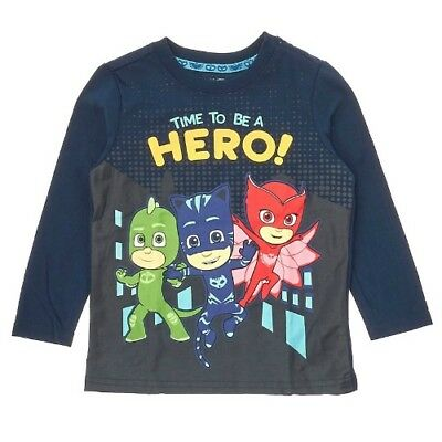 PJ MASKS Toddler Boys Time To Be A Hero Graphic T-Shirt Size 2T NEW