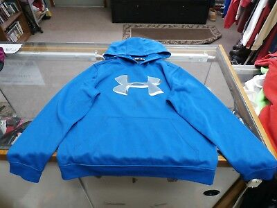 Under armour BOYS Hoodie Size Medium Blue Polyester #25710
