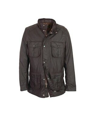 $429 Barbour Corbridge Waxed Mens Medium Olive Great Condi Smart BikerField+hood
