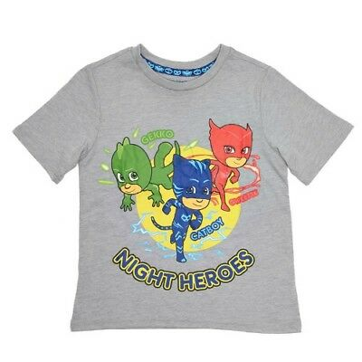 PJ MASKS Toddler Boys Night Heroes Graphic T-Shirt Size 4T NEW