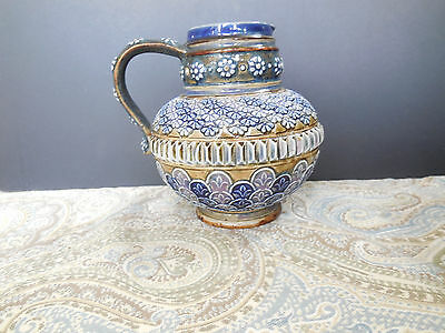 Doulton Lambeth Squat Pitcher 1880 by Harriet E Hibbut Kimono Inspired