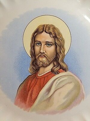 """Vintage Scalloped """"Jesus Christ"""" Collector Plate by Florence B Lunz 9 3/4"""""""
