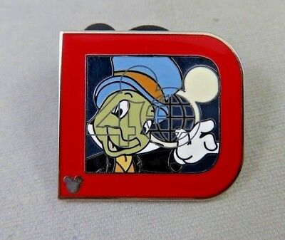 Disney WDW Pin - 2011 Hidden Mickey Completer Classic 'D' - Jiminy Cricket - Red