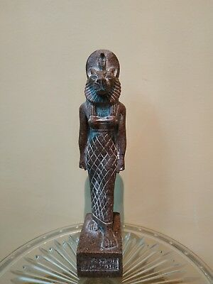 Unique Antique Egyptian Statue Sekhmet of the gods in ancient