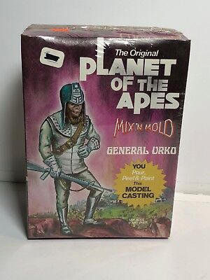 Vintage PLANET OF THE APES POTA MIX N MOLD CASTING GENERAL URKO SEALED MIB