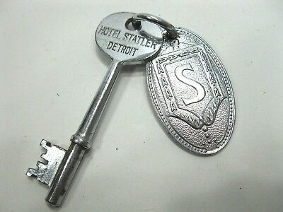Detroit Hotel Statler Room Key and Fob Room 806 Vintage Collectible RARE