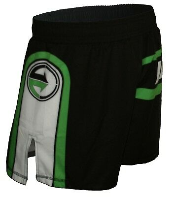 Incite Fight Wear Hybrid MMA Shorts, YARI Green BJJ, Nogi, Black, Boxing, BJJ,