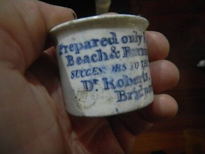 Antique Vintage Early Old Australian Pottery  BEACH & BARNICOTT PRINTED POT