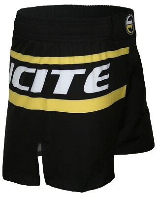 Fight Shorts, Incite, YARI Yellow, BJJ, Nogi, Hybrid MMA, Black, Boxing, BJJ, K1