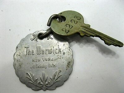 The Warwick New York Hotel Room Key and Fob Room 2223 Vintage