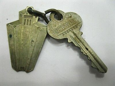 Hotel Mark Hopkins San Francisco Room Key and Fob Room 711 Vintage