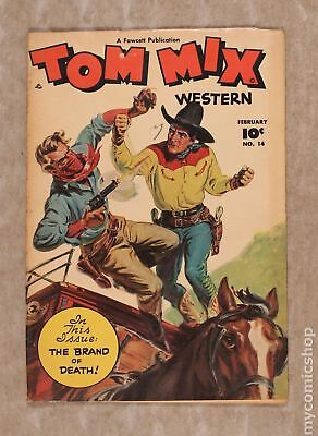 Tom Mix Western (Fawcett) #14 1949 GD/VG 3.0