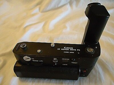 Canon Ae Motor Drive Fn Power Winder For F-1 With Battery Pack
