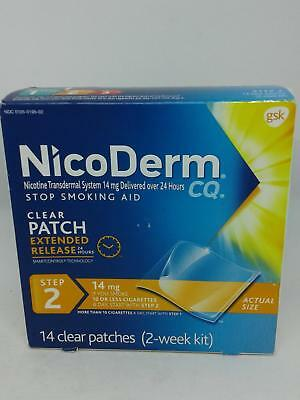NicoDerm CQ Step 2 - 14mg 14 Clear Patches