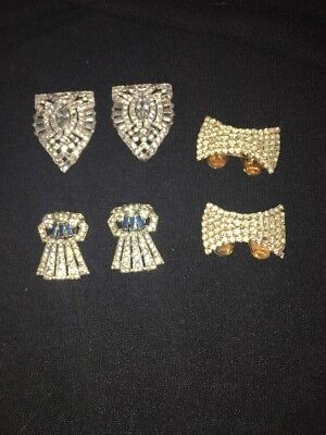 Lot Of 3 Pairs of vintage shoe clips