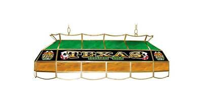 Rectangular Stained Glass Lighting Fixture w Texas Holdem Logo [ID 19842]