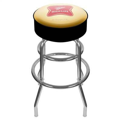 Bar Stool with Padded Seat & Miller High Life Logo [ID 18869]
