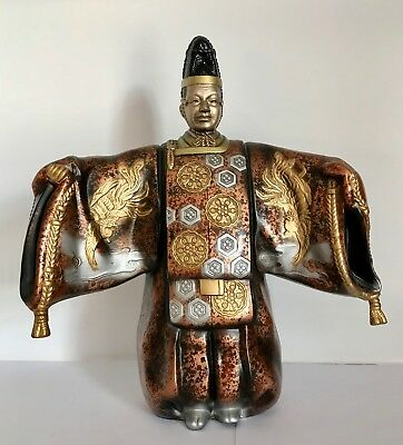 Lovely Japanese Cast Metal Okimono NOH Theater Okina Figure Statue ~Showa Period