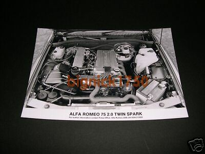 ALFA ROMEO - Alfa 75 Engine Detail (2.0 TS) Press Photo