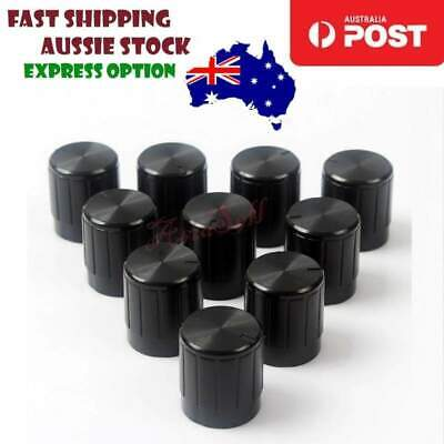 10pcs Potentiometer Plastic Knob 14x16mm Shaft Diameter 6mm Black