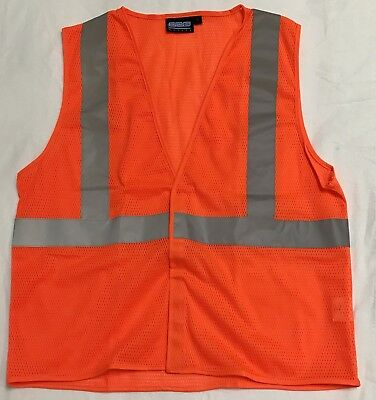 Hazzard Vest Reflective Orange And Gray Size M ERB Safety