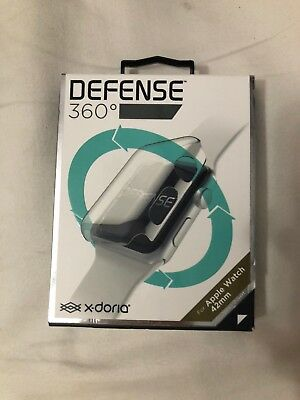 X-Doria Defense 360 Clear Plastic Full Cover Screen Protection Apple Watch 42mm
