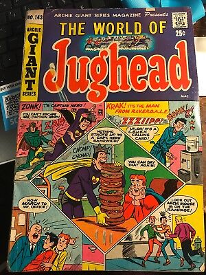 The World of Jughead #143 December 1966 Archie Giant Series