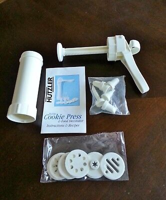HUTZLER Petite Cookie Press and Food Decorator - 7 Discs/6 Tips Made in Germany