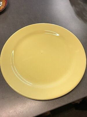 """LuRay Pastels 14 """" Plate, TS & T Taylor Smith Taylor Yellow"""
