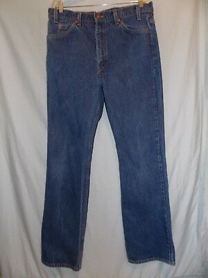 Levis 517 38x34 (37x34 actual) Vintage made in USA Denim Blue Jeans Orange Tab