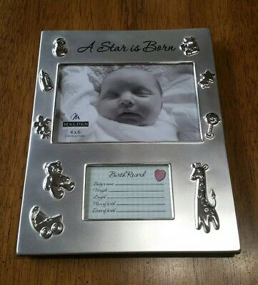 Malden International Designs (A Star is Born) Baby Metal Picture Frame 4x6,