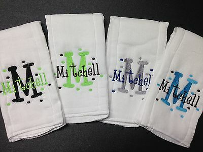 Personalized/Embroidered Baby Burp Cloths Buy 3 get the 4th free!!! Perfect gift