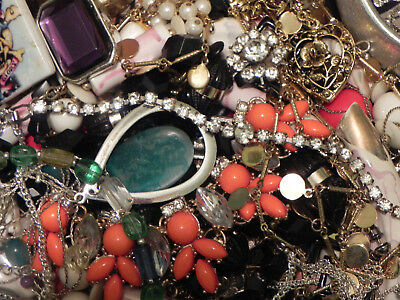 Estate Sale Lot of Vintage to Modern Jewelry, Untested, #695 Some Signed
