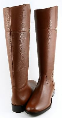 TORY BURCH JOLIE Brown Leather Designer Boots Riding, Equestrian 10.5 M